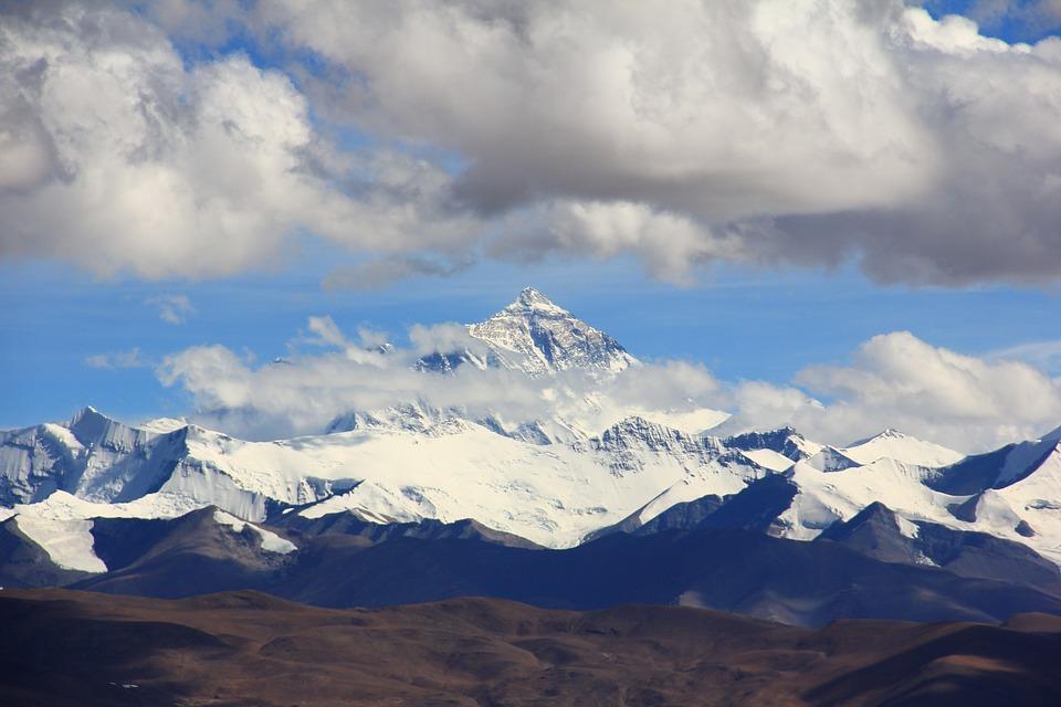 Expédition du mont Everest symbole analyse d'entreprise