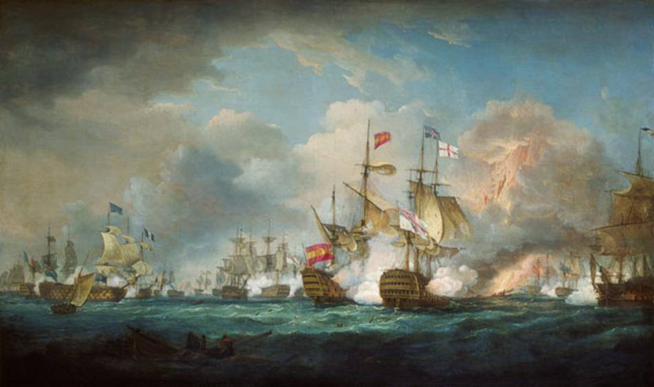 bataille navale de trafalgar par whitcombe