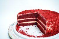 gâteau rouge