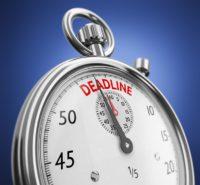 Chronomètre proche de la deadline